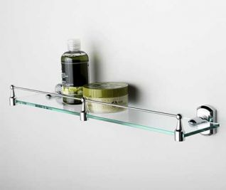 Полка стеклянная WasserKRAFT Oder K-3044, с бортиком