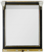 Зеркало Aquanet Валенса 80 черный каркалет/золото арт.180144