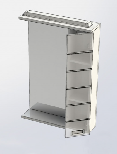 Зеркало-шкаф Aquanet Доминика 55 белый арт.171079