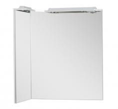 Зеркало Aquanet Корнер 80 белое L арт.158820