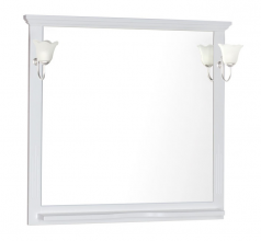 Зеркало Aquanet Лагуна 105 белый-матовый 175304