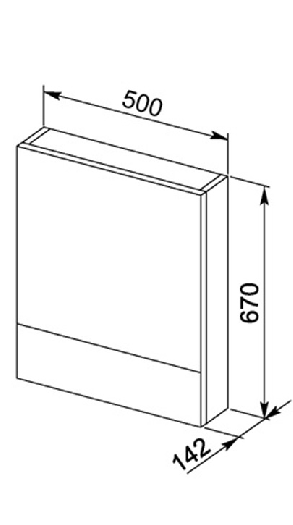 Зеркало Aquanet Нота 50 венге арт.172681