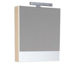 Шкаф-зеркало Aquanet Нота 60 светлый дуб-фасад белый 165370