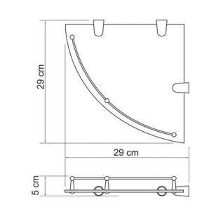 Полка стеклянная угловая WasserKRAFT K-544