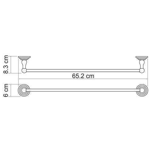 Полотенцедержатель WasserKRAFT Ammer K-7030