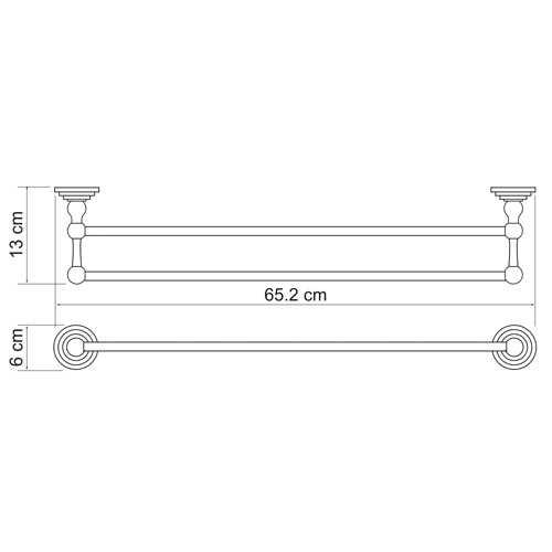 Полотенцедержатель WasserKRAFT Ammer K-7040, двойной