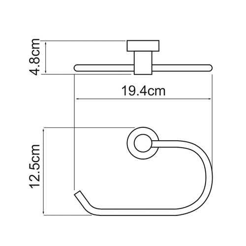 Полотенцедержатель WasserKRAFT Donau K-9460, кольцо