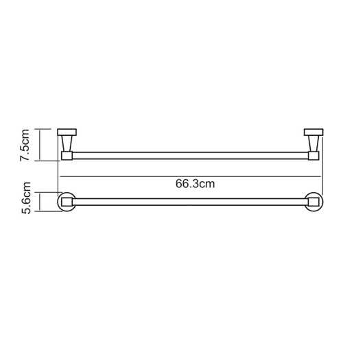 Полотенцедержатель WasserKRAFT Isen K-4030