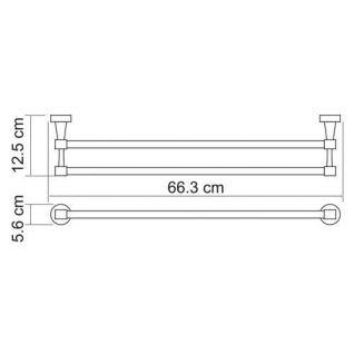 Полотенцедержатель WasserKRAFT Isen K-4040, двойной