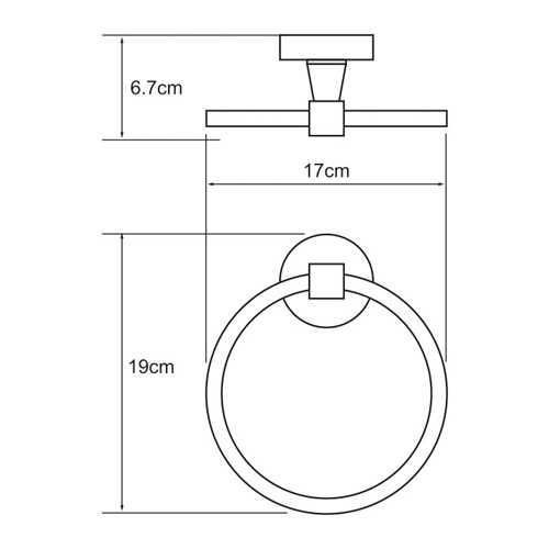 Полотенцедержатель WasserKRAFT Isen K-4060, кольцо