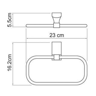 Полотенцедержатель WasserKRAFT Leine K-5060, кольцо