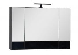 Шкаф-зеркало Aquanet Нота 100 чёрный 168879