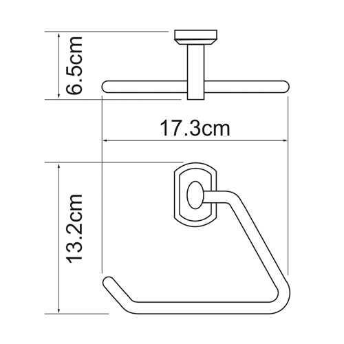 Полотенцедержатель WasserKRAFT Oder K-3061, треугольник