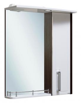 Зеркало-шкаф навесной Runo Гранада 60 венге-белый