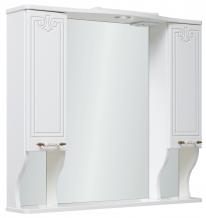 Зеркало-шкаф Runo Кантри 85 белый