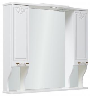 Зеркало-шкаф навесной Runo Кантри 85 белый