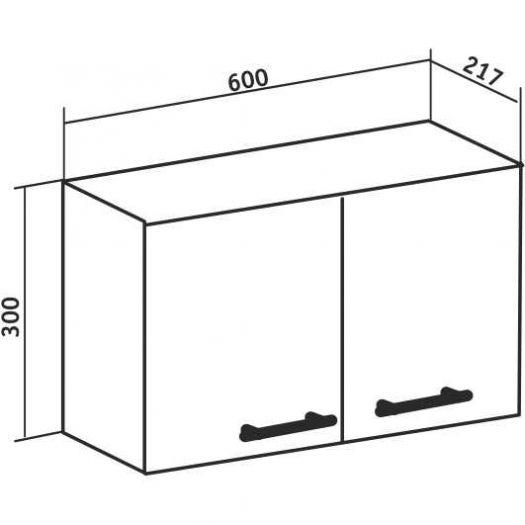 Шкаф навесной Runo Рондо 60х30