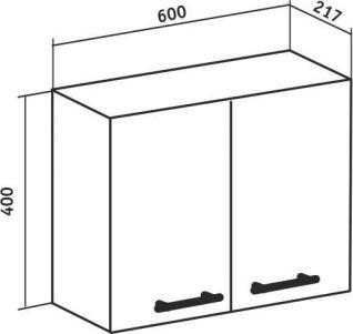 Шкаф навесной Runo Рондо 60х40