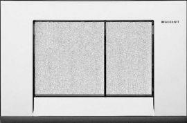 Клавиша Geberit Bolero 115.777.KB.1, рамка - хром глянцевый, кнопки - хром структурный, пластик, 246