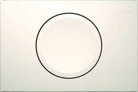 Клавиша Geberit Delta 11 115.120.11.1, белая, пластик, 246x164 мм