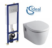 Комплект Ideal Standard W880101: Инсталляция Ideal Standard W3710AA + Унитаз подвесной Ideal Standar