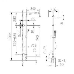 Душевая колонна Bravat FIT S D283CP-2A-RUS