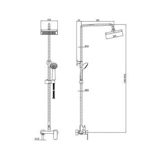 Душевая система Bravat Opal F9125183CP-A-RUS