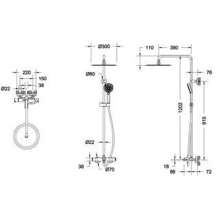 Душевая система Bravat Waterfall F639114C-A3-RUS