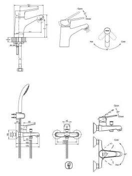 Комплект для ванной комнаты Bravat Eco-D F00314C