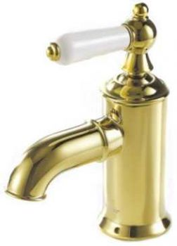 Смеситель для раковины Bravat ART F175109G золото