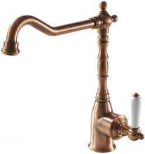 Смеситель Bravat Art River F775109U для кухонной мойки, цвет бронза