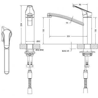 Смеситель Bravat Common F7234129CP-RUS для кухонной мойки