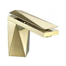 Смеситель Bravat Diamond F118102G-1-RUS для раковины, цвет золото