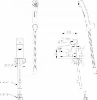 Смеситель Bravat Drop F14898C-2 для раковины