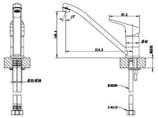 Смеситель Bravat Drop F74898C-2 для кухонной мойки