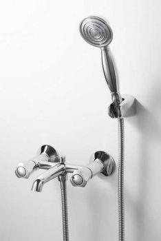 Смеситель Bravat Duo F6133186CP-B для ванны и душа с душевым гарнитуром