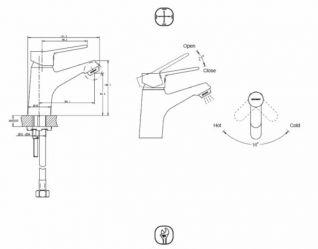 Смеситель Bravat Eco F1111147C для раковины