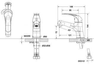 Смеситель Bravat Fit 7F1135188CP-RUS для раковины