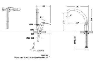Смеситель Bravat Fit 7F7135188CP-1-RUS для кухонной мойки