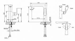 Смеситель Bravat Flow F171105C-A для кухонной мойки