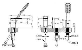 Смеситель Bravat Gina F565104C-2-RUS для ванны