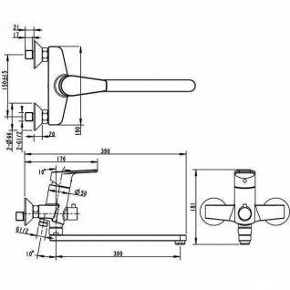Смеситель Bravat Line F65299C-LB-RUS для ванны