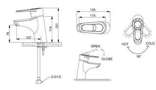 Смеситель Bravat Loop F1124182CP-RUS для раковины