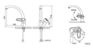 Смеситель Bravat Loop F7124182CP-RUS для кухонной мойки