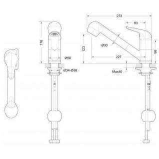 Смеситель Bravat Omega F785129CP-RUS для кухонной мойки