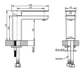 Смеситель Bravat Phillis F156101C-RUS для раковины