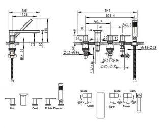 Смеситель Bravat Phillis F556101C-RUS для ванны