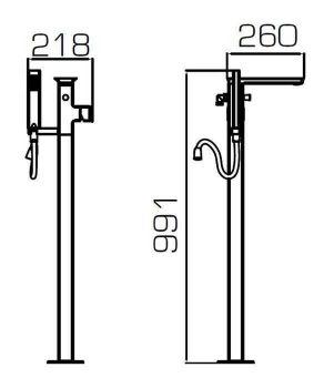 Смеситель Bravat Phillis F656101C-B2-RUS для ванны