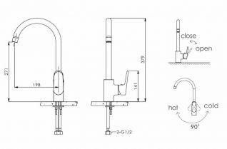 Смеситель Bravat Pure F7105161C для кухонной мойки