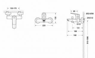 Смеситель Bravat Real F6121179CP-01 для ванны и душа